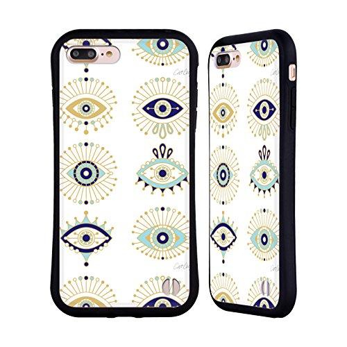 Head Case Designs Licenciado Oficialmente Cat Coquillette Oro Azul El Mal de Ojo Carcasa híbrida Compatible con Apple iPhone 7 Plus/iPhone 8 Plus