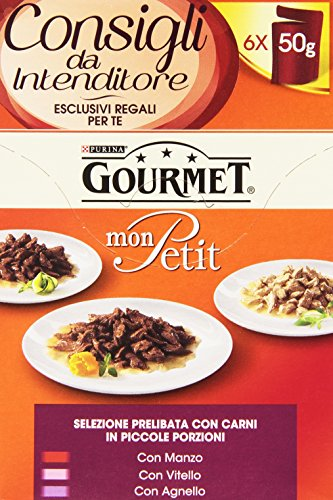Gourmet Mon Petit, Selezione Prelibata con Carni per Gatti, 6 x 50g