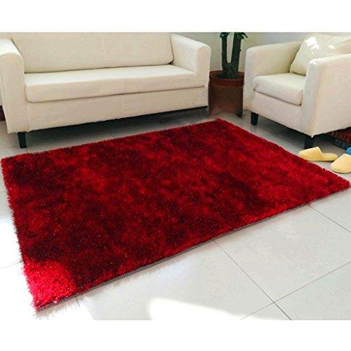 Lewie-Carpet Lumineux Soie Tapis Salon Table Basse Chambre Lit Devant Le rectangulaire Tapis Silky Souple jetable antiadhésif poussière