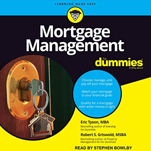 Mortgage Management for Dummies audiobook cover art