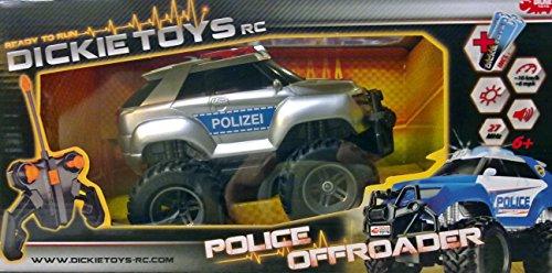 Dickie RC RTR Jouet Voiture de Police avec télécommande + Effets sonores et Lumineux