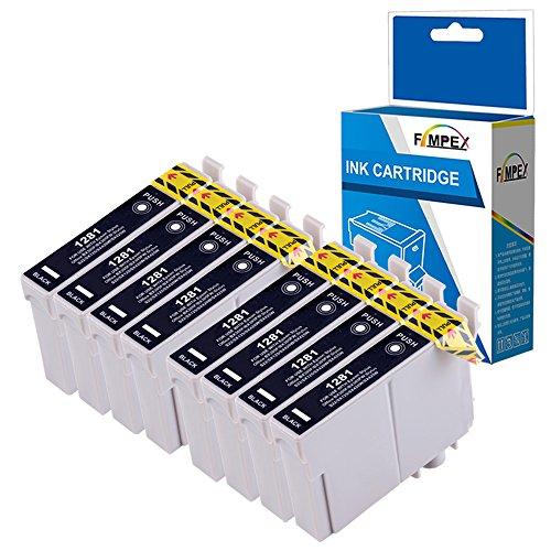 Fimpex Compatibile Inchiostro Cartuccia Sostituzione Per Epson Stylus Office BX305F BX305FW Plus Stylus S22 SX125 SX130 SX230 SX235W SX420W SX425W SX430W SX435W SX438W SX440W T1281 (Nero, 8-Pack)