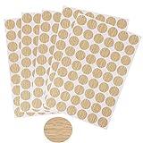 5 Piezas de Fundas Autoadhesivas para Muebles Tapas Autoadhesivas para Tornillos Autoadhesivas de Polvo Pegatinas Circulares Ø 21 mm (Color madera)