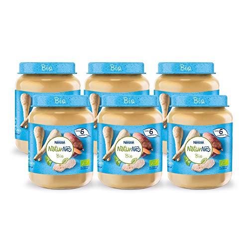 Naturnes Bio Pastinaak, Zoete Aardappel, Kalfsvlees 6+ maanden babymaaltijd - 6 potjes van 190 gram