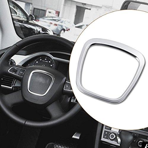 JenNiFer Aluminiumlegierung Auto Lenkrad Aufkleber Karosserie Emblem Trim Für Audi A3 / A4 / A5 / Q5 / Q7