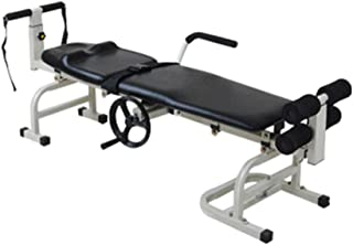zinnor Cervical Lumbar Traction Bed, Folding Chiropractic Table Therapy Massage Bed Body Stretching Relaxing Adjustable Belt Body Traction Equipment USA