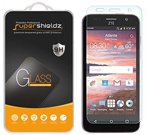Supershieldz for ZTE Maven Tempered Glass Screen Protector, Anti Scratch, Bubble Free