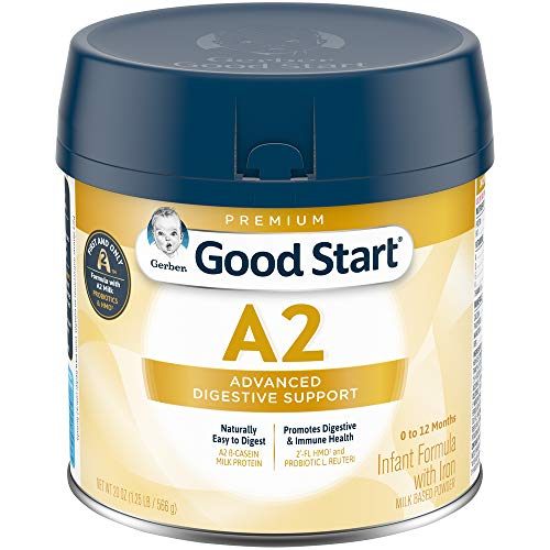 Gerber Good Start Infant Formula A2 Milk (HMO) Non-GMO Powder, Stage 1, 20 Ounces