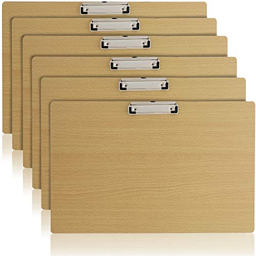 Landscape Clipboard with Low Profile Clip (19.5 x 12.5 in, 6 Pack)