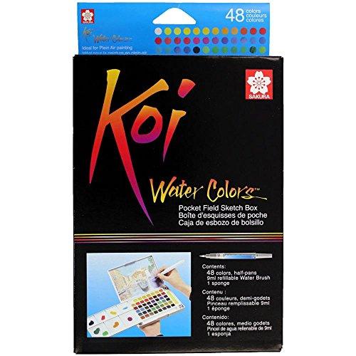 Koi Watercolor Pocket Field Sketch Box Set Of 48