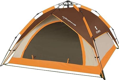 MINGANGSAYONE Camping Sauvage Tente imperméable à l'eau pour 3 Personnes ou 4 Personnes (Couleur   marron)