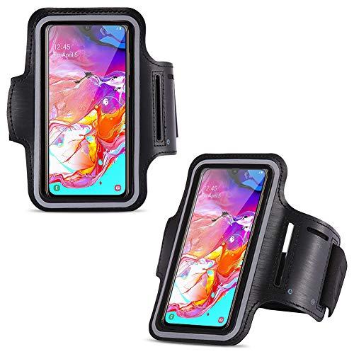 NAUC telefoonhoesje compatibel met Samsung Galaxy A70 2019 beschermhoes jogging armcase fitness case hoes sportarmband