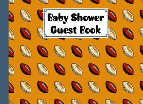 Baby Shower Guest Book: Rugby Baby Shower Guest Book, A Simple Mamie And Babies Guestbook | 150 Pages, Size 8.25