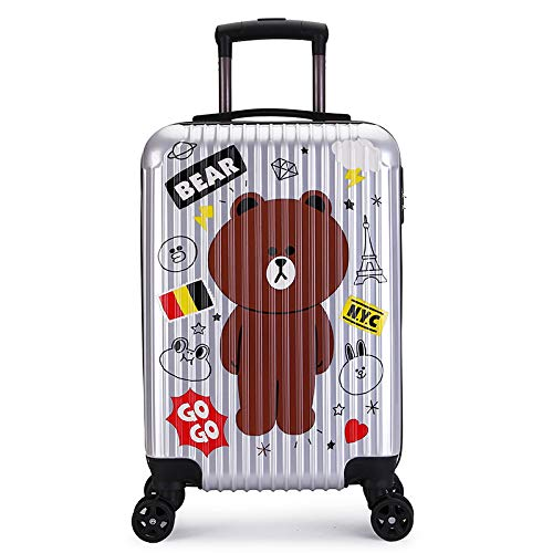 Luggage Lever Case 20 inches Silver Bear