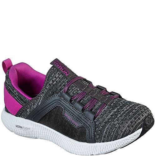 Skechers Women's GOrun Horizon Beacon Running Shoes Grey/Purple 7.5