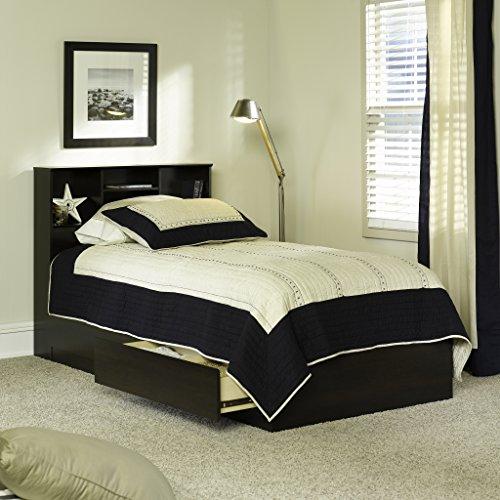 Twin Beds with Storage Espresso Finish Twin Storage Bed