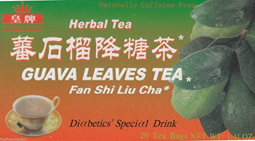 Royal King Natural Guava Leaves Herbal Tea (20 Tea Bags) - 3 box pack