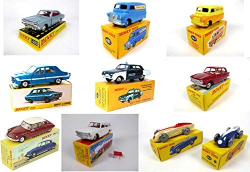 - Posten mit 10 Dinky Toys Atlas-Editionen Citroen Renault Ford Peugeot OPEL Simca Bedford (L10Z)