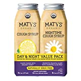 Maty's Organic Cough Syrup Value Pack - Daytime & Nighttime - Made with Organic Honey, Cinnamon, Chamomile & Nutmeg, 2-6fl oz Bottles