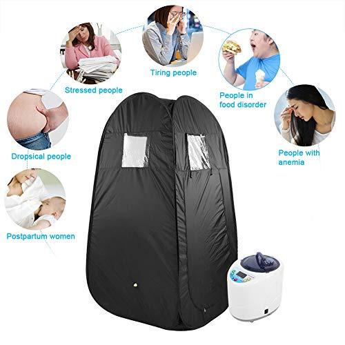 Boquite Dampfsauna, 2L Portable & Faltbare fördert die Durchblutung Zelt Haut Maschine mit Digitalanzeige für Home Spa(US-Stecker)