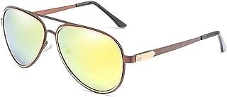 SGJFZD Sunglasses Universal Polarizer UV400 Tide Colorful Frog Mirror Retro Reflective Sunglasses Sunglasses (Color : Tea)