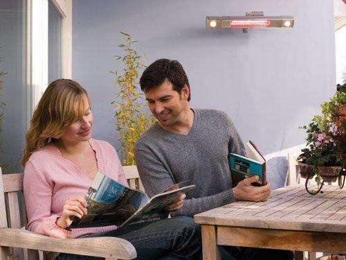 "Infrarotstrahler Terrassen Strahler ""Burda Term 2000"", 2000 Watt – mit eingebautem Licht LED Spots – Alu poliert - 5"