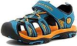 SAGUARO Sandalias para Niño Verano Casual Sandalias de Zapatillas de Trekking y Senderismo Antideslizantes Sandalias de Playa Azul Gr.29