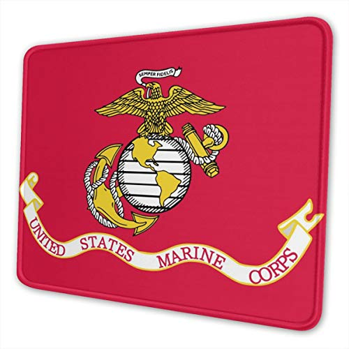 Mouse Pad Eagle and Anchor Logo Gaming Mousepad with Stitched Edges Non-Slip Rubber Base for Computers Laptop Office & Home