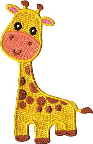Animals Gold Giraffe Animal Patch, Officially Licensed Artwork, Iron-On   Sew-On, 2.5  x 4  Embroiderot PATCH by Application