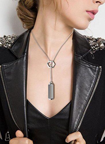 HARRYSTORE Bangle Wearable Accessory Series-Replacement Elegant Bracelet Necklace Pendant for Fitbit Flex 2 (Silver 1)
