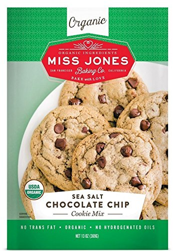 Miss Jones Baking Organic Cookie Mix, Non-GMO, Vegan-Friendly, Packed with Morsels: Sea Salt Chocolate Chip (Pack of 1)