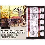 M. Graham 1/2-Ounce Tube Watercolor Paint Set, Quinacridone Quintet 5 (33-QUIN)