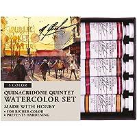M. Graham 1/2-Ounce Tube Watercolor Paint Set, Quinacridone Quintet 5 by M. Graham & Co.