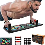 Push Up Rack Board 12 en 1, tablero de rack de push-up portátil plegable, soportes multifuncional para lagartijas de fitness codificados por colores, para muscular al aire libre, ejercicio físico