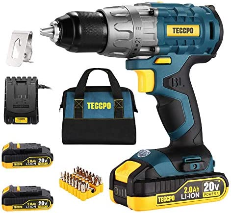 Cordless drill Brushless 20V Li ion Drill Driver Set 2 x 2 0Ah Batteries 530 In lbs Torque 1 product image