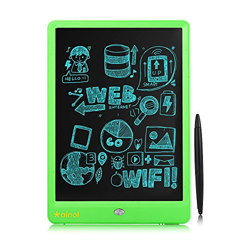 EARME Ainol 10 Inch LCD Writing Tablet,Electronic Drawing Board with LCD Screen Mental Lock Button and Stylus for Adults at Home, School and Work Office,Gift for Kids(Green)