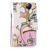 HMTECH Custodia Samsung Galaxy A50 Cover Portafoglio,Galaxy A50 Custodia Pittura Colorata...