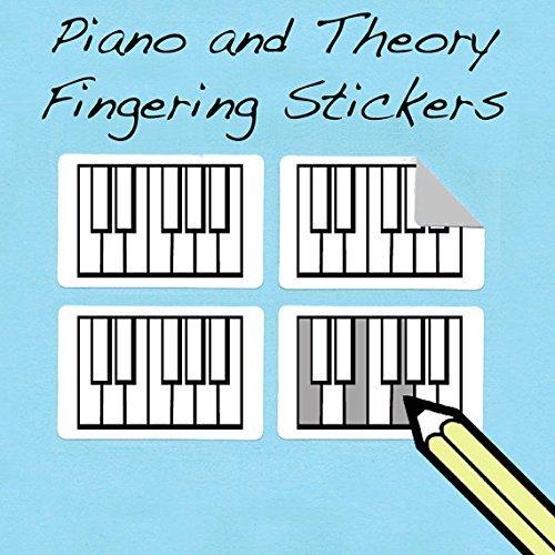 Mini Klavier / Pano Diagramm Aufkleber (250 Stück)