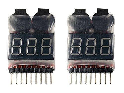YUNIQUE DEUTSCHLAND 2 Stuck Buzzer 1S - 8S Lipo Alarm Warner Schutz Checker Voltage Buzzer Pieper 1S 2S 3S
