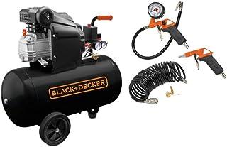 BLACK+DECKER Air Compressor With 50L Tank + 6 pcs Air Tools Kit - BD205/50 + KIT-6