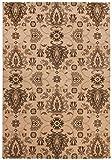 Theko Die Markenteppiche Alfombra (Diseño clásico marrón, Lana, 240 x 340 cm