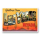 GREETINGS FROM LAS VEGAS, NV vintage reprint postcard set of 20 identical postcards. Large Letter Las Vegas, Nevada city name post card pack (ca. 1930's-1940's). Made in USA.