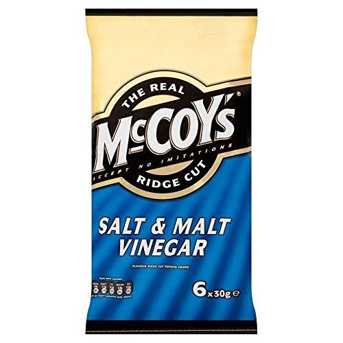 Mccoys Grat Schnitt Chips - Salz Und Malz -Essig (6X30G)