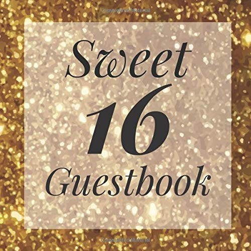 Sweet 16 Guestbook: Signing Book with Photo Space and Gift Log - Party Guest Book Birthday