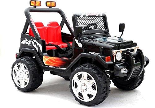 BSD Coche Electrico para Niños Auto Alimentado con Batería Vehículo Eléctrico Control Remoto - Raptor 2x35W Dos plazas - Negro