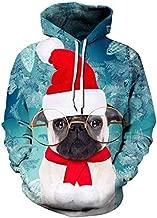 بلوفر بقلنسوة مطبوع عليه Streetwear 3D Christmas Clothing للسيدات والرجال سويت شيرت فضفاض كاجوال بقلنسوة للنساء