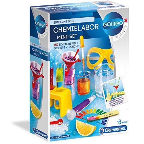 Unbekannt Galileo Chemielabor mit Zubehör Experimentierset für 60 Versuche ab 8 Jahren • Chemie Labor Starter Set Experimentier Kasten