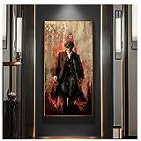 nr Popular Poster and Prints Peaky Blinders Temporada Serie de TV Seda Pintura Decoracin Arte de la Pared Imgenes para Sala de Estar 50x80cm sin Marco