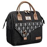 Lekesky Sac Isotherme Repas Grande Capacité 11L Noir, Bureau Lunch Bag Isotherme femme Pique-Nique Sac-pour Travail, École, Excursions, Shopping