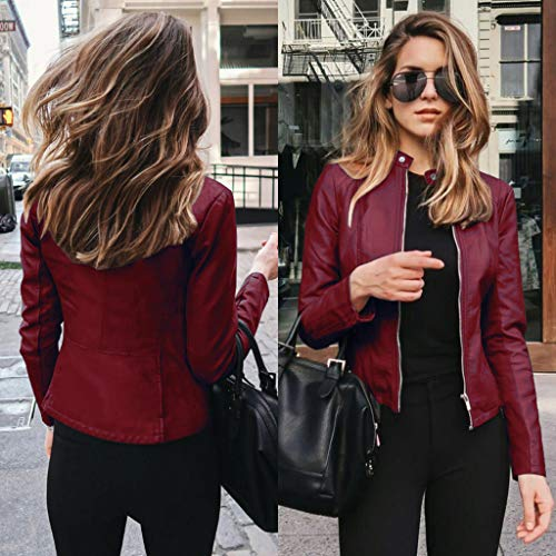 Ladies Leather Jacket $18.13 (80% OFF Coupon)